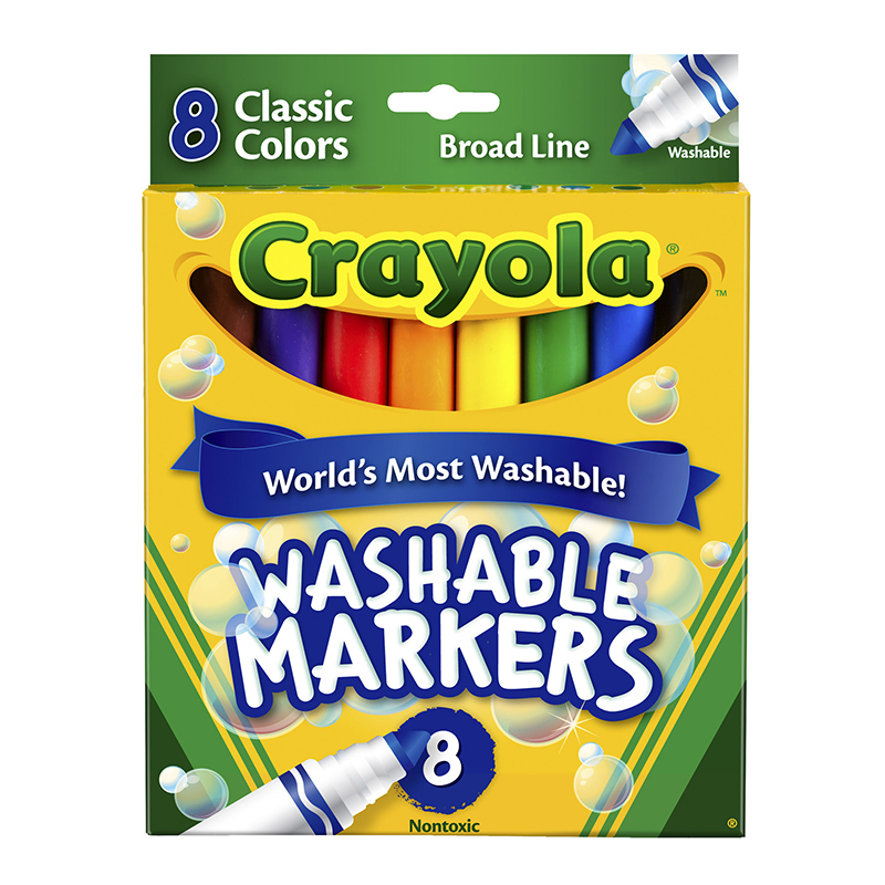 Crayola Washable Coloring Markers 8 Colors