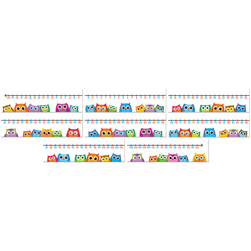 Colorful Owls Number Line