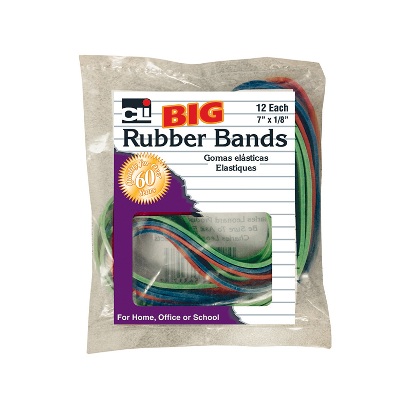 Big Rubber Bands 7x1/8in 12pk