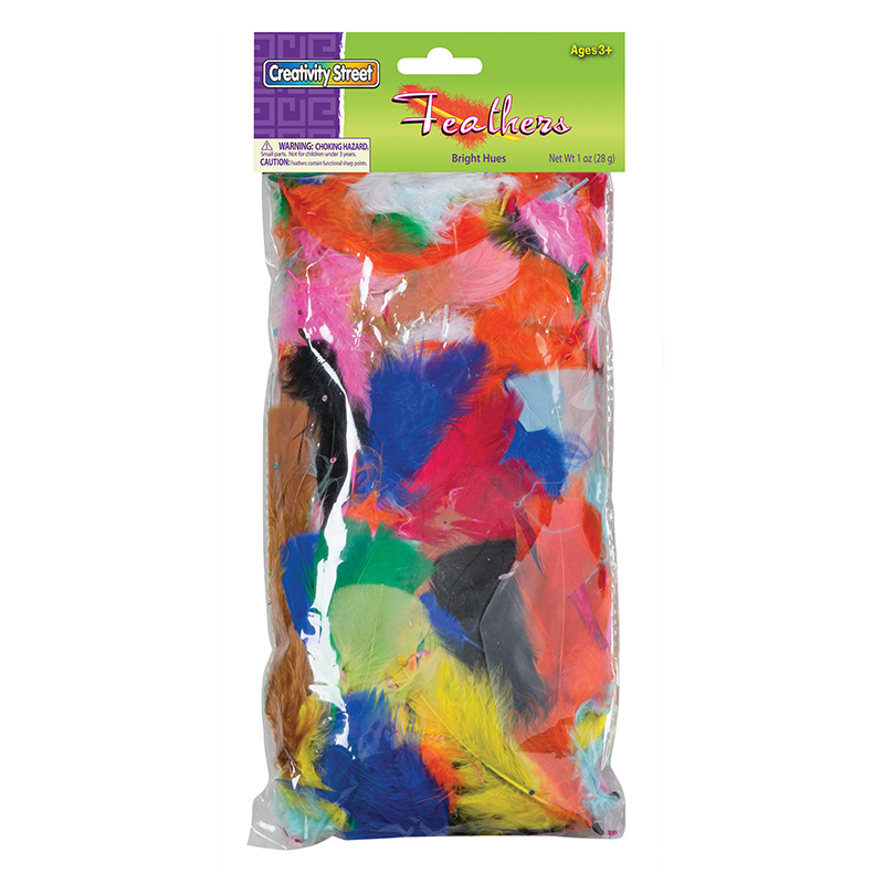 Creativity Street® Feathers Bright Hues 1 Oz Bag