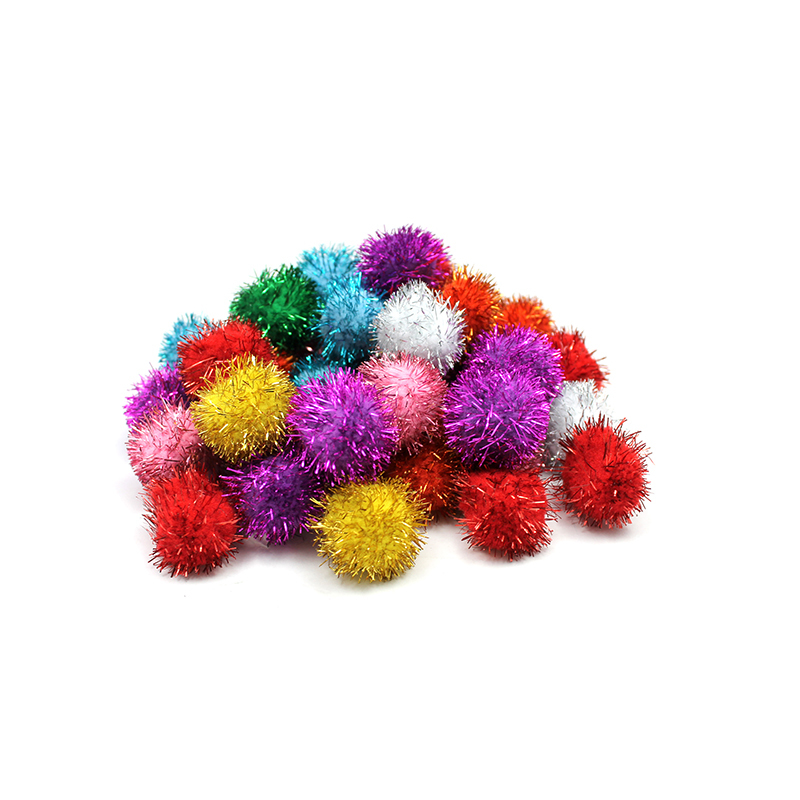 Creativity Street® Glitter 1/2in Pom Pons Bag Of 40