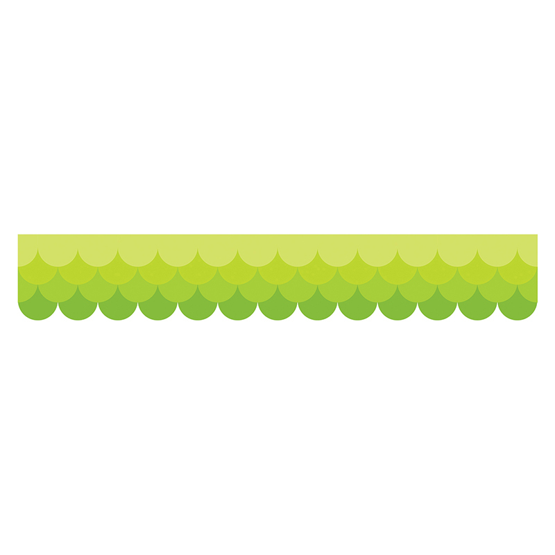 Ombre Lime Green Scallops Borders Paint