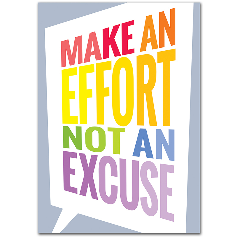 Make An Effort Inspire U Poster Paint