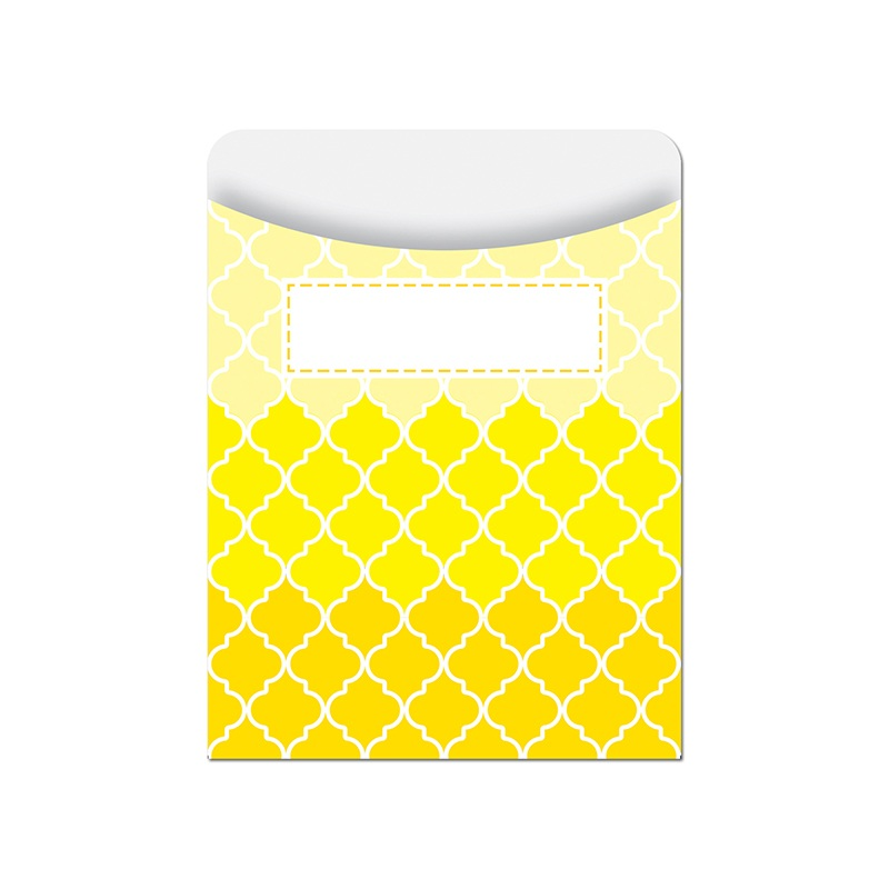 Ombre Yellow Moroccan Library Pockets - Paint