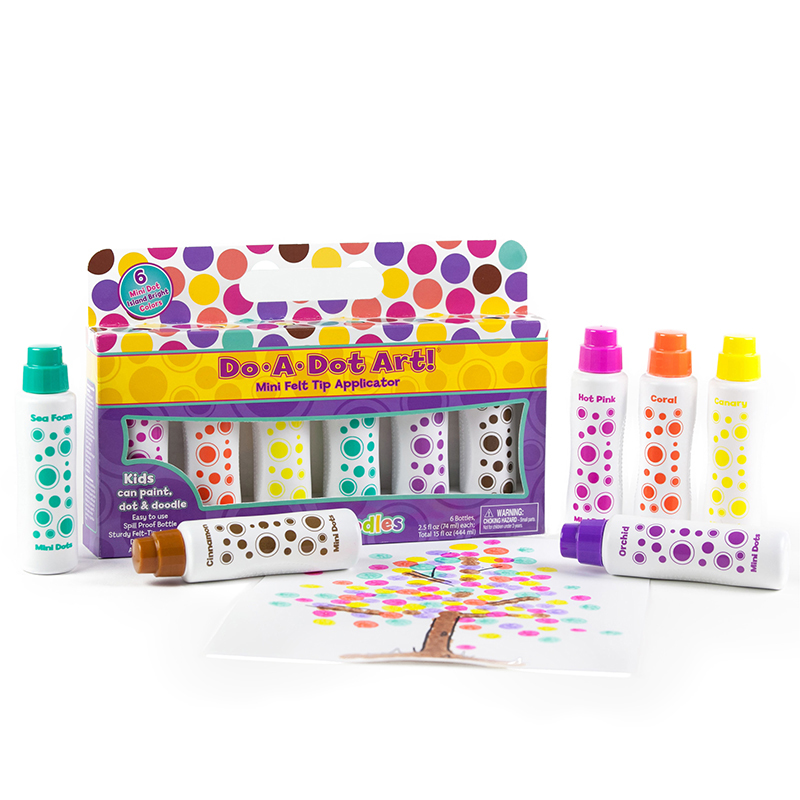 Mini Do A Dots Markers 6pk Island Bright