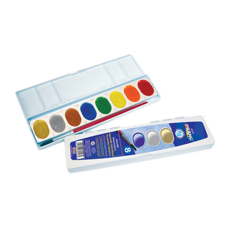 Prang Watercolor Masterpk Metallic Colors 8 Count
