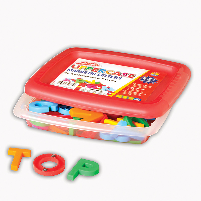 Alphamagnets Uppercase 42 Pcs Multicolored