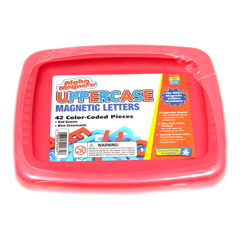 Alphamagnets Uppercase 42 Pcs Color-Coded
