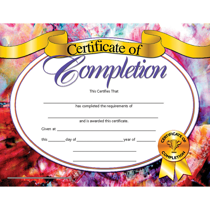 Hayes Certificates Of Completion 30/pk 8.5 X 11 Inkjet Laser