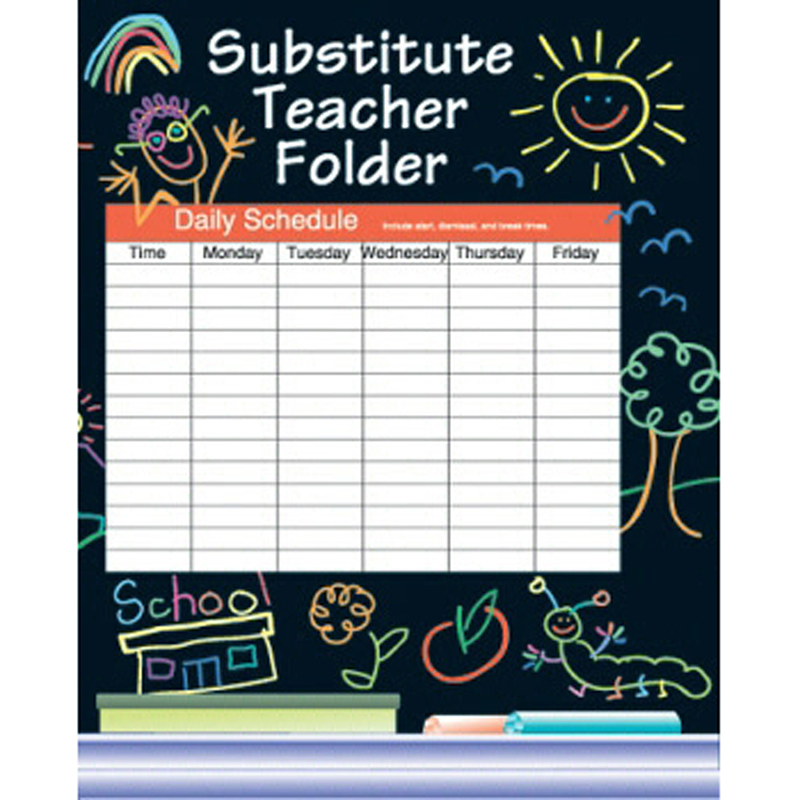 Substitute Folder Elem Kid 24-Pk 9 X 11 W/ Pocket