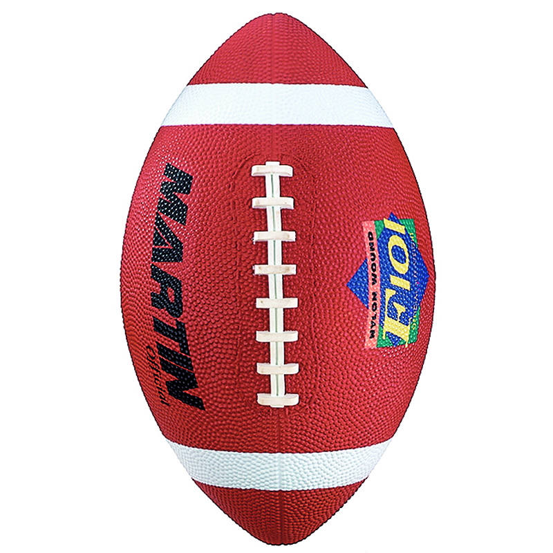 Football Official Brown Rubber Nylon Wound