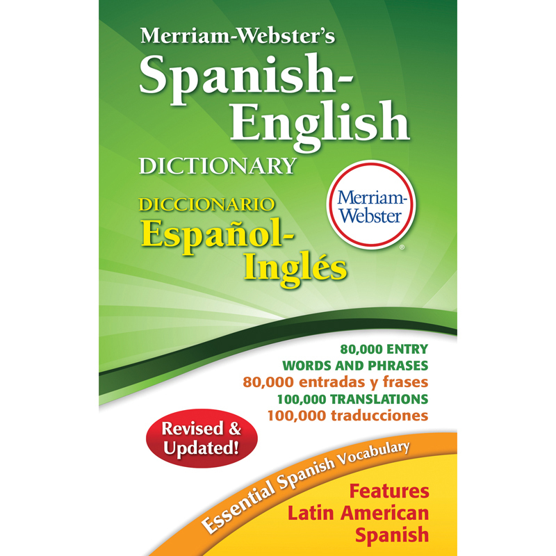 Merriam Webster Spanish English Dictionary Hardcover ...