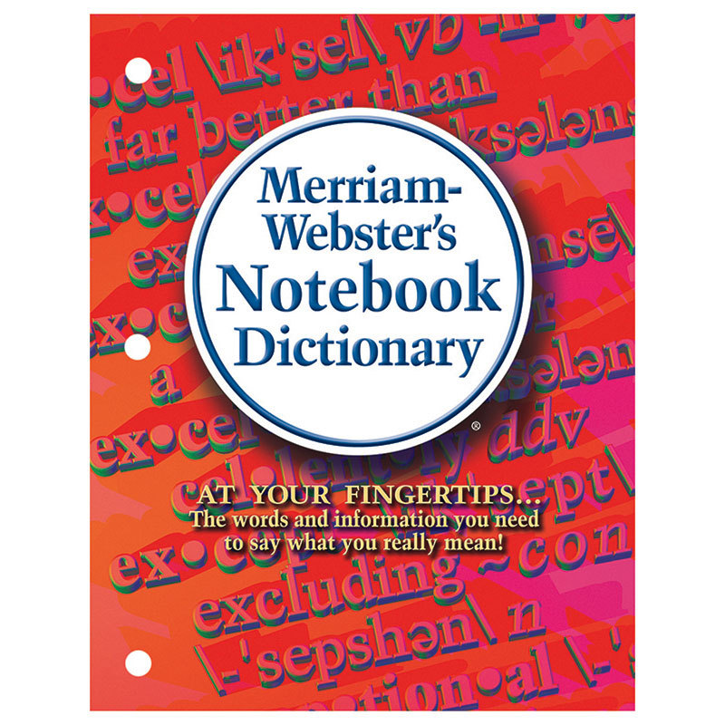 Merriam Webster Notebook Dictionary