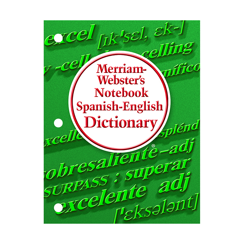 Merriam Webster Notebook Spanish English Dictionary