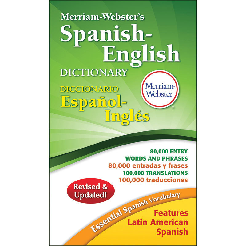 Merriam Webster Spanish-English Dictionary Paperback