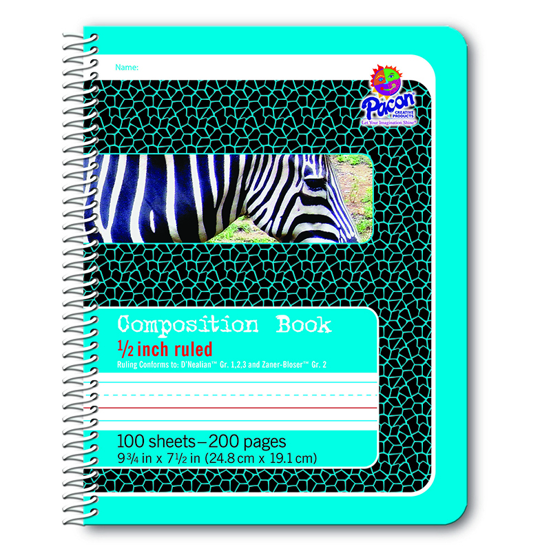 Composition Book 1/2in Ruled Spiral Bound
