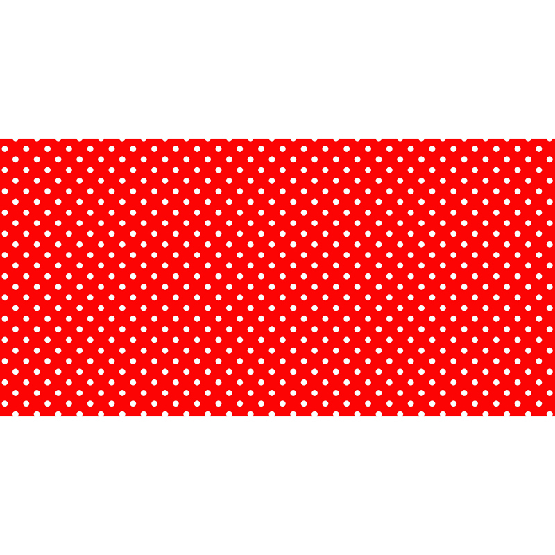 Fadeless 48x50ft Classic Dots Red Design Roll