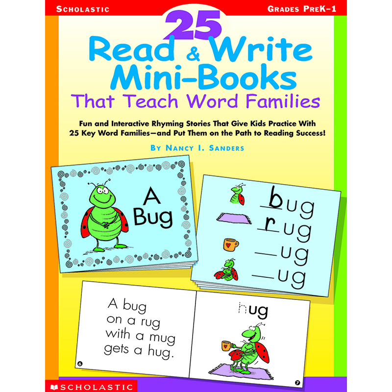 25 Read & Write Minibooks That Teach Word Families