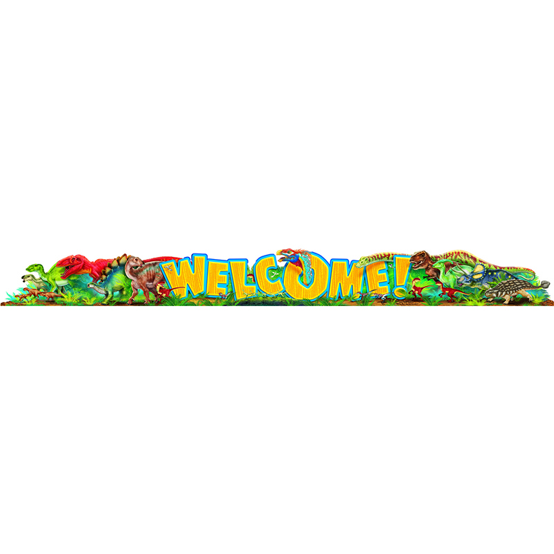 Welcome Discovering Dinosaurs Quotable Expressions Banner 10 Ft