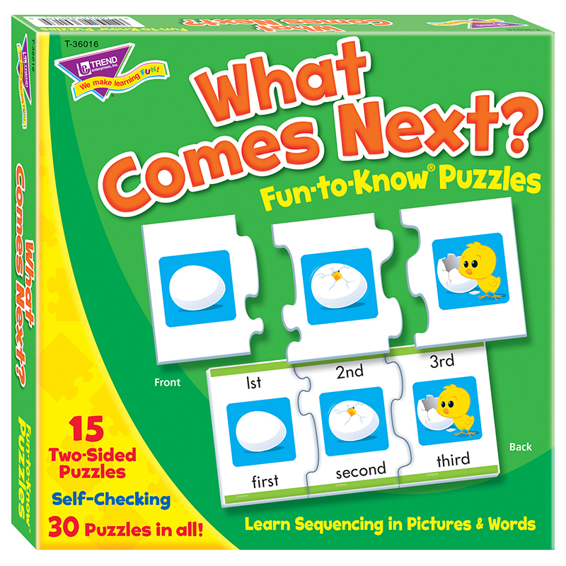 What Comes Next Sequencing Puz Fun- To-Know Puzzles