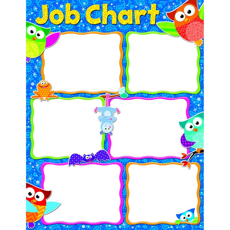 job chart: Job chart owl stars learning chart learning charts online