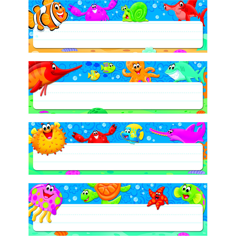 Sea Buddies Desk Toppers Name Plates Variety Pack