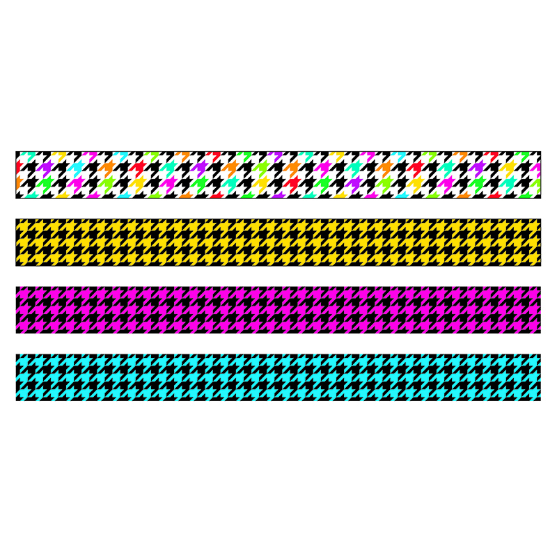 Trend Mix Borders: Houndstooth, Variety Pack