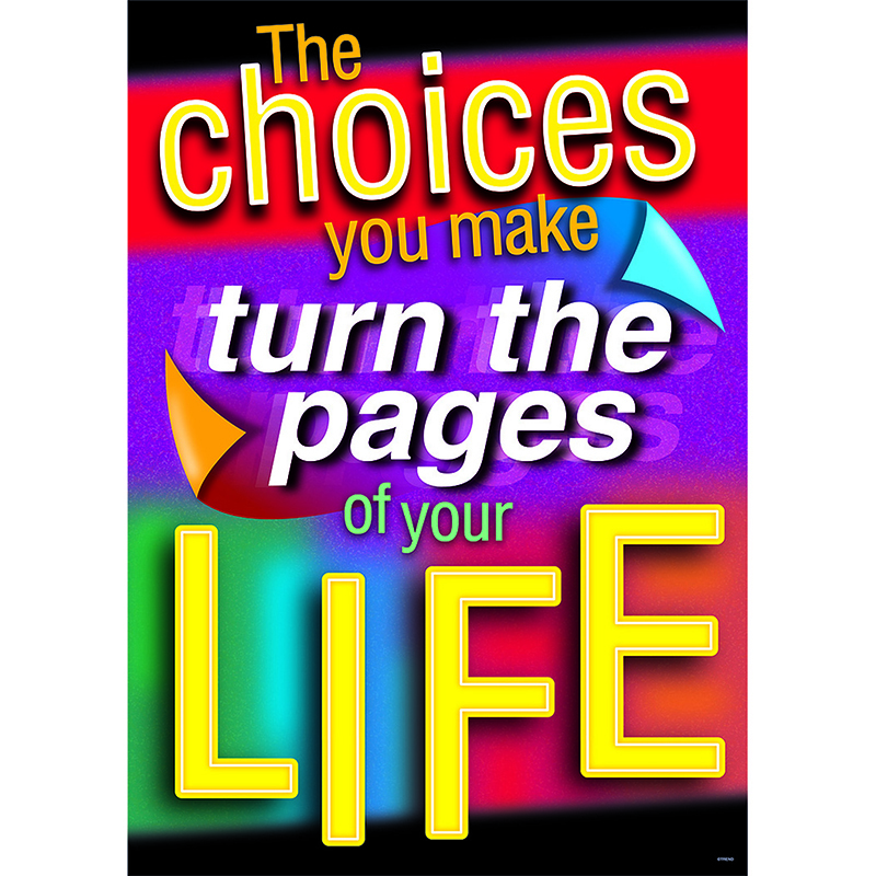 The Choices You Make Turn The Pages Of Your Life Argus Large Poster