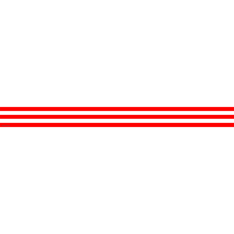 Red & White Stripes Straight Border Trim