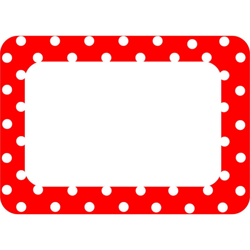 Red Polka Dots 2 Name Tags