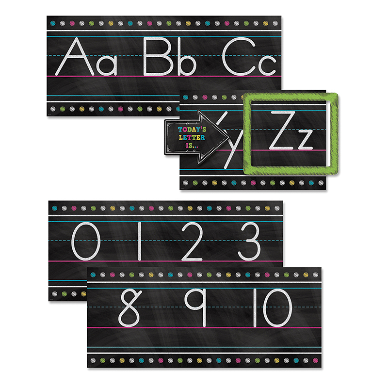Chalkboard Brights Alphabet Line Bb Set