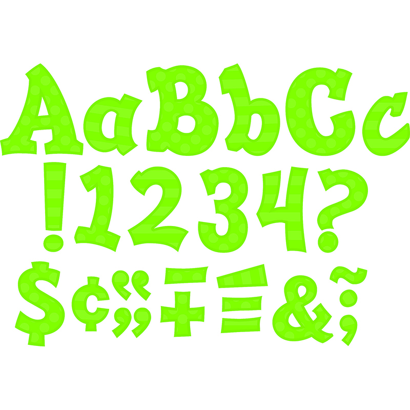Green 5in Sassy Font