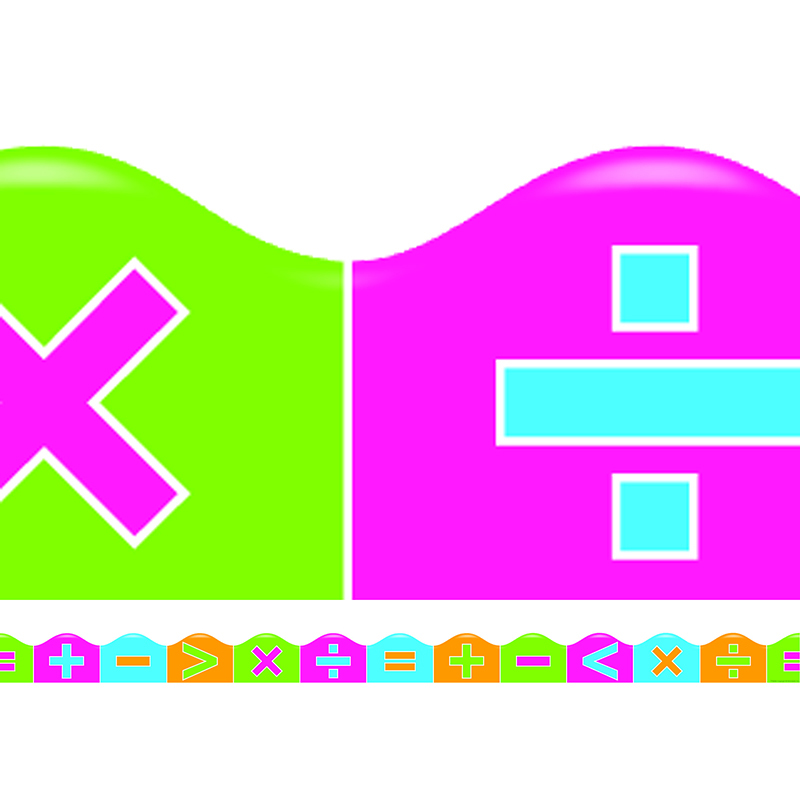 Math Symbols Scalloped Trimmer Classroom Borders Online Teacher