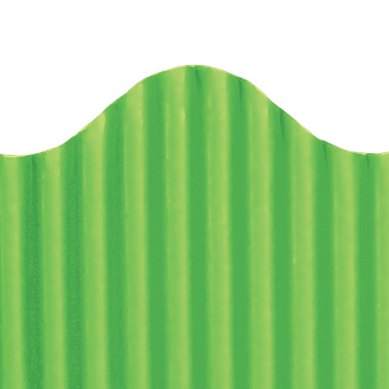 Corrugated Border Granny Green