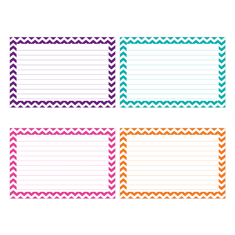 Border Index Cards 4x6 Lined 75ct Chevron