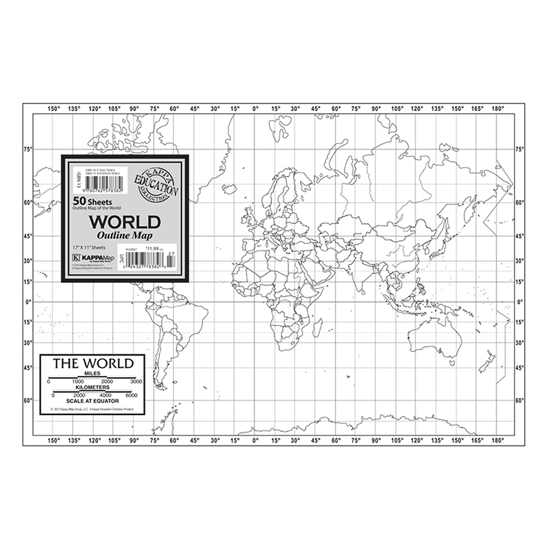 Outline Map Study Pads World