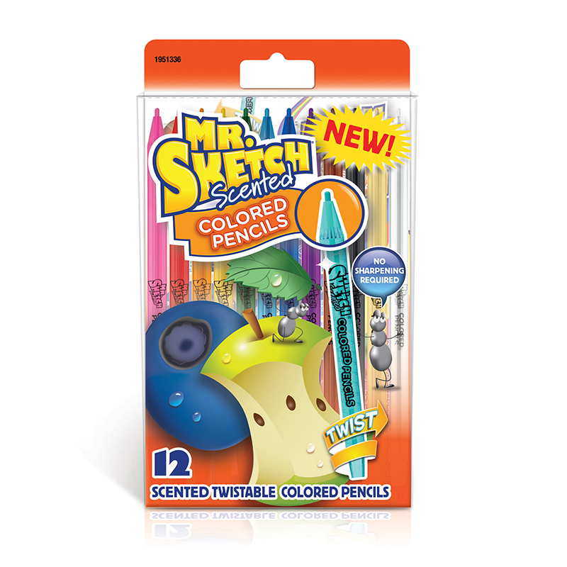 12 Pk Mr Sketch Scent Color Pencils
