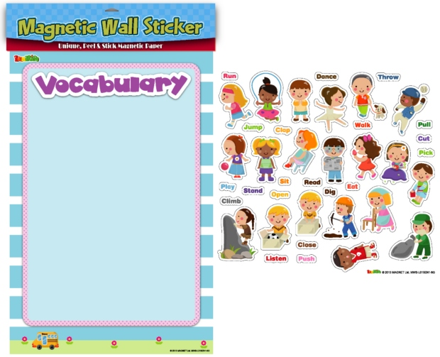 American Educational Magnetic Wall Stickers: Verbs
