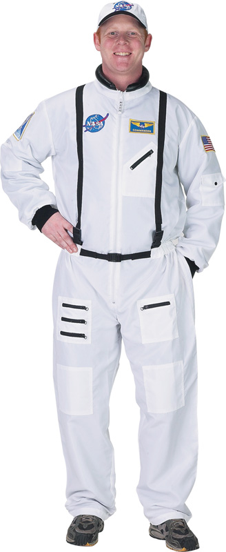 Aeromax Aeromax Adult Astronaut Suit with Embroidered Cap: White, Small