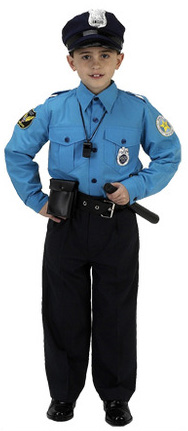 Aeromax Junior Police Officer Suit: Size for 2 to 3 without Accessories