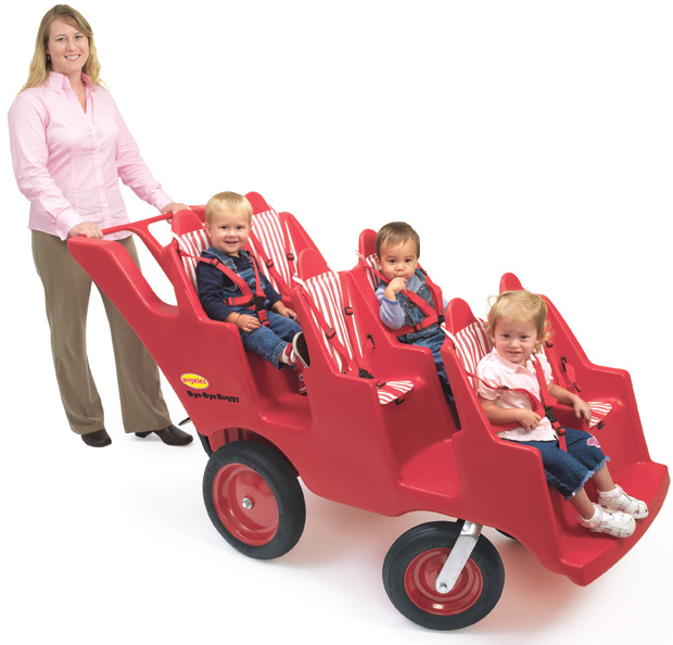 Angeles Never Flat Fat Tire Bye-Bye Baby Buggy: 6 Passenger