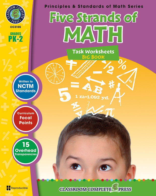 Classroom Complete Book: Five Strands of Math Task Sheets Big Book, Grade PK,K,1,2