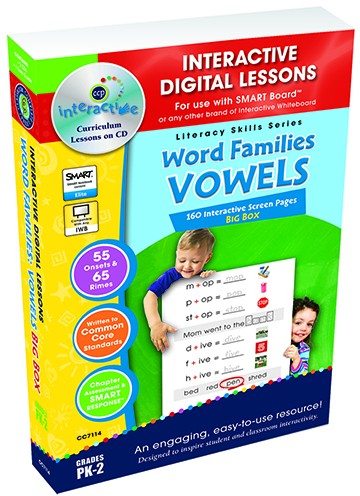 Interactive Whiteboard Lesson Plans Word Families Vowels Big Box