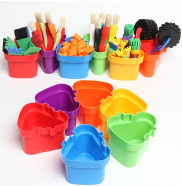 Center Enterprises Ready to Learn Creative Connecting Pots: Pack of 6