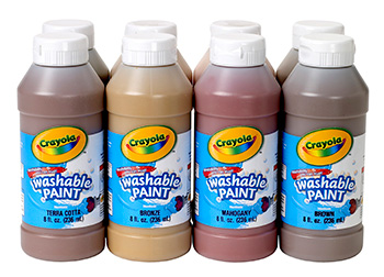 Crayola Crayola Multicultural Washable Paint 8 Asst 8oz Bottles