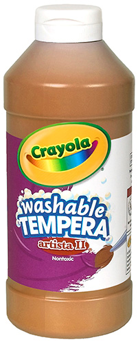 Crayola Crayola Artista Ii Tempera 16oz Brown Washable Paint