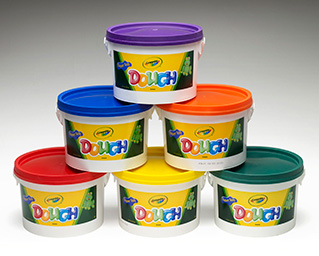 Crayola Crayola Dough Set Of 6 Tubs Red Orange Green Yellow Purple Blue