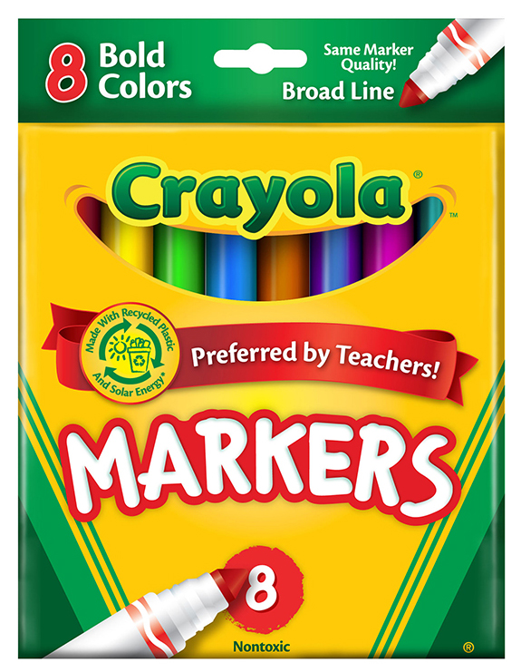 Crayola Coloring Marker Bold Conical 8pk