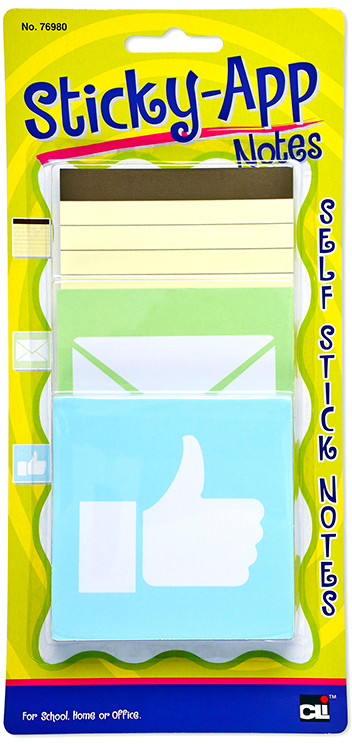 Sticky App Notes Pastel 3 Assorted Designs