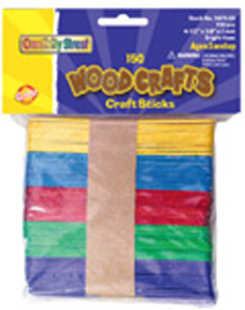 Creativity Street® Craft Sticks Assorted Colors